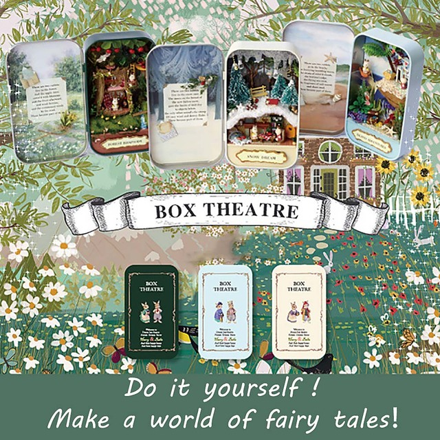 Cute diy tin box miniature 3d doll house kit theatre series small cute diy tin box miniature 3d doll house kit theatre series small handcraft cute gifts for solutioingenieria Gallery