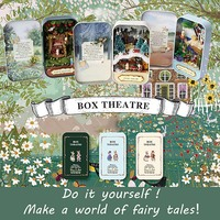 Cute DIY Tin Box Miniature 3D Doll House Kit Theatre Series Small Handcraft Cute Gifts For Children