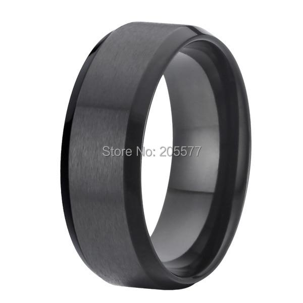 ac587054eac 8mm fashion jewelry handmade mens black pure titanium rings wedding bands  rings alliance anel titan ringe