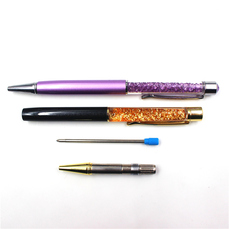 5pc lot Hot Sale 0 7mm Metal Crystal Pen Refill Ballpoint Ball Point Pen for Writing High Quality in Ballpoint Pens from Office School Supplies