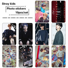 10pcs/set Kpop Stray kids photo cards sticker Fashion album photocard Stray kids photo card sticker new arrivals(China)