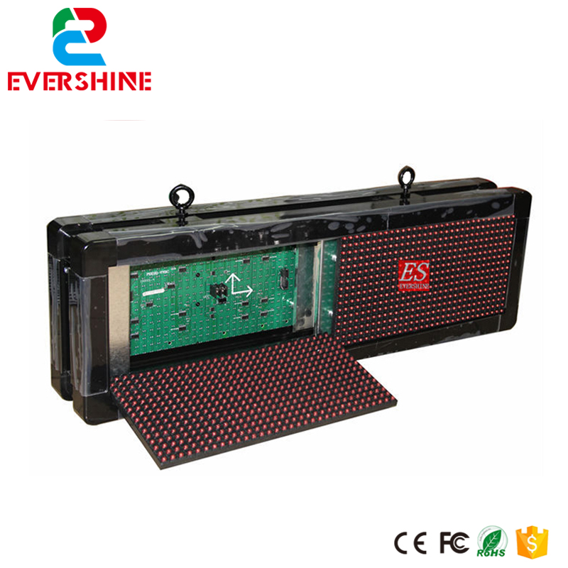 цены P10 Two Sides LED Display Screen Red Color For Text With Size W71 x H23cm