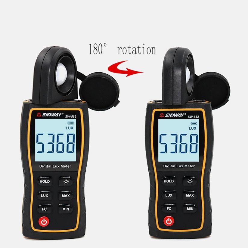 sw582 Digital illuminance meter digital light meter high precision illuminance meter hand held light test in Temperature Gauges from Home Garden