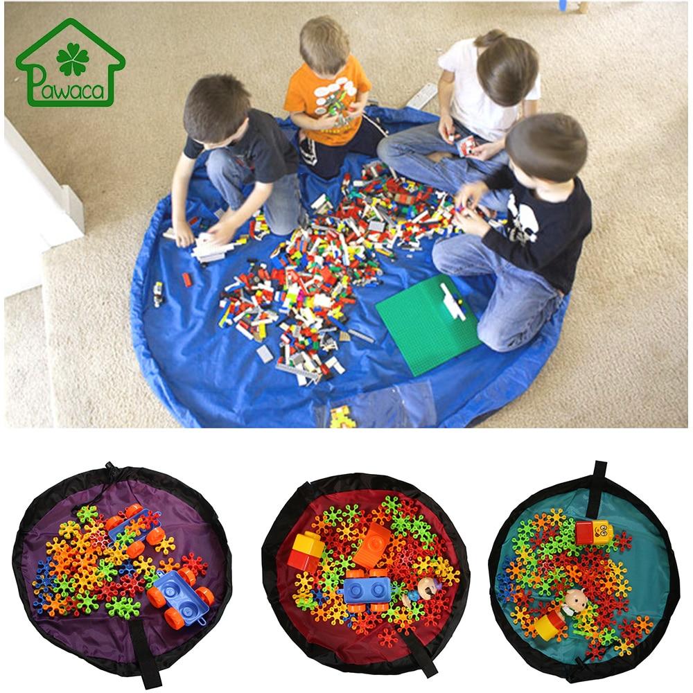 Puimentiua Enfant Grand Sac de rangement de jeu Tapis de jeu Stockage de jouets Panier de sac de jouet Pliable Ext/érieur #17