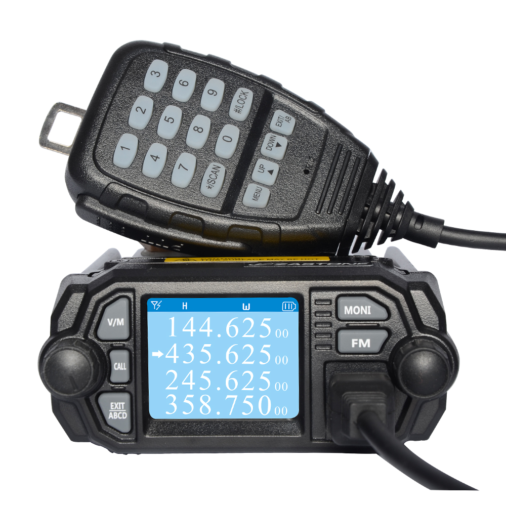 Zastone 2 bands / 4 bands Car Truck Mobile Radio Transceiver MP380 Mini Car Mobile Radio Two Way Radio 136-174/400-480 <font><b>MHZ</b></font> image