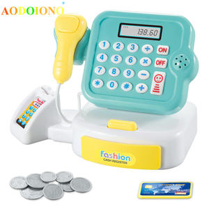 Light Cash-Register-Toy Supermarket Pretend Boys-Girls Children Play Kids Simulation-Gifts