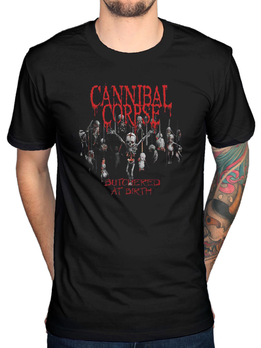 Cannibal Corpse Butchered at Birth 2015 T-Shirt Death Metal Merchandise
