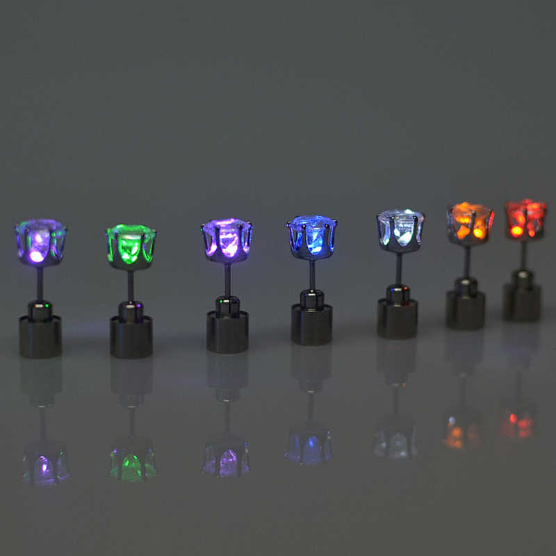 1 Charm LED Bông Tai Sáng Lên Thái Phát Sáng Pha Lê Đồng Tai Thả Bông Tai Bông Tai Trang Sức Nữ Giáng Sinh quà Tặng