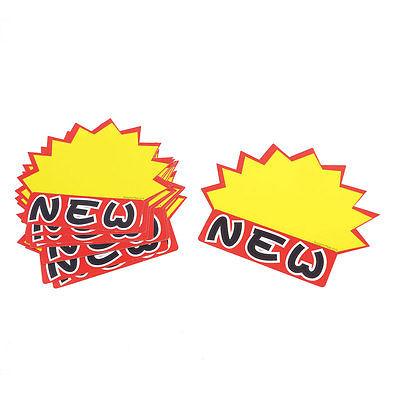 Retailing Red Yellow Black New Printed Advertising Pop Price Tags 10 Pcs