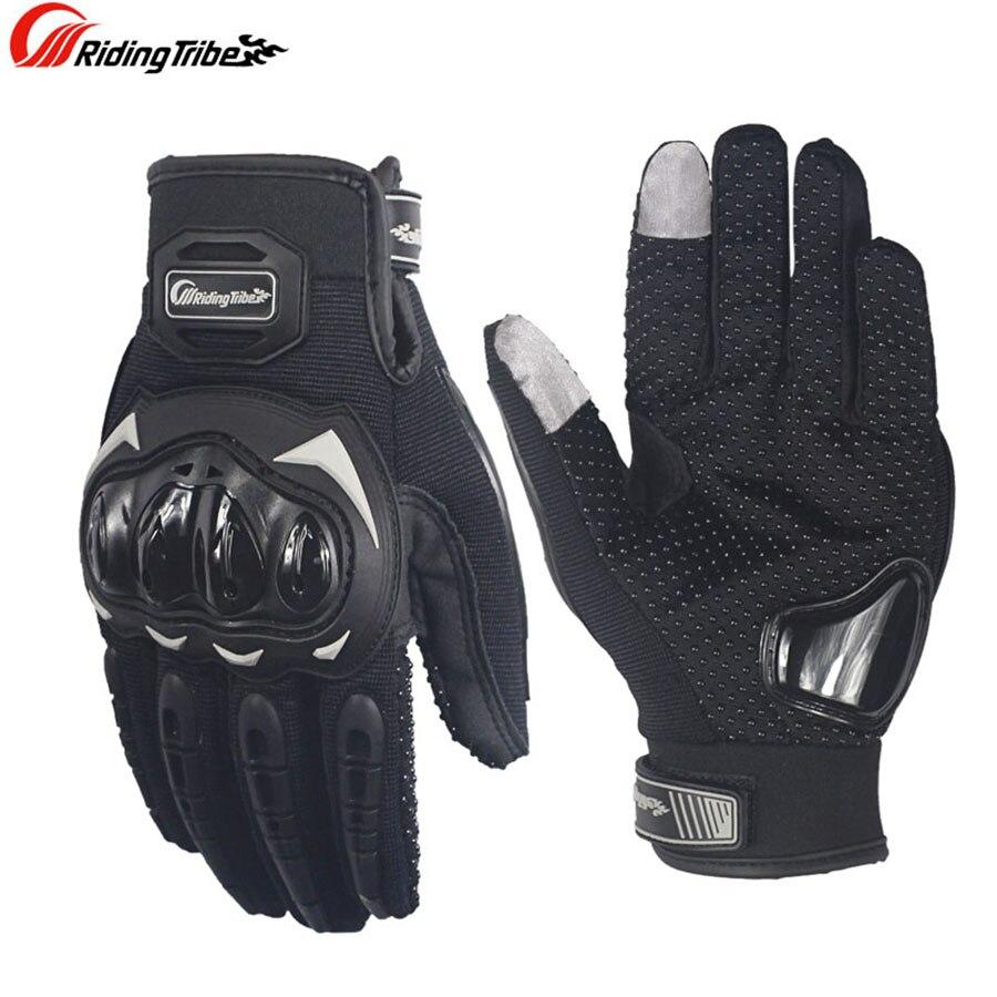 Genuine Reit Tribe Moto Motorrad Handschuhe Männer Frauen Winter & Sommer Gants Luvas Guantes Motocross Protektoren Racing Handschuhe