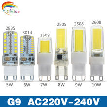 Mini cob G9 Led Lamp Light 5W 6W 7W 8W 9W 10W 220V G9 Led bulb Dimmable SMD2835 LED G9 Spotlight For Crystal Chandelier Replace(China)