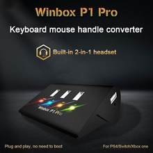 P1 Pro Keyboard/Mouse Gamepad Adaptor 4USB Independen Switch Converter untuk FPS PS4 P1 Pro Xbox Mobile Legend ROS cutter(China)