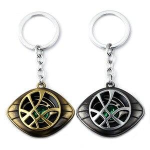 Image 2 - Marvel Superhero Figure Doctor Strange Eye of Agomotto Keychain Toy Avengers Union  Glasses Pendant Car Bag Necklace Gift