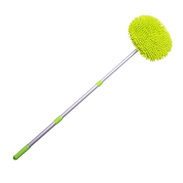Car Wash Brush Cleaning Mop Chenille Broom Adjustable Telescoping Long Handle Car Cleaning Tools Rotatable Brush Car Accessories 4
