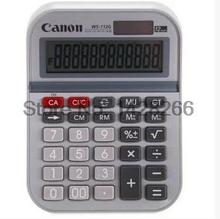 1 Piece Canon WS-112G 12 Digits Genuine Calculator Solar Dual Power Desktop metal panel large-screen display