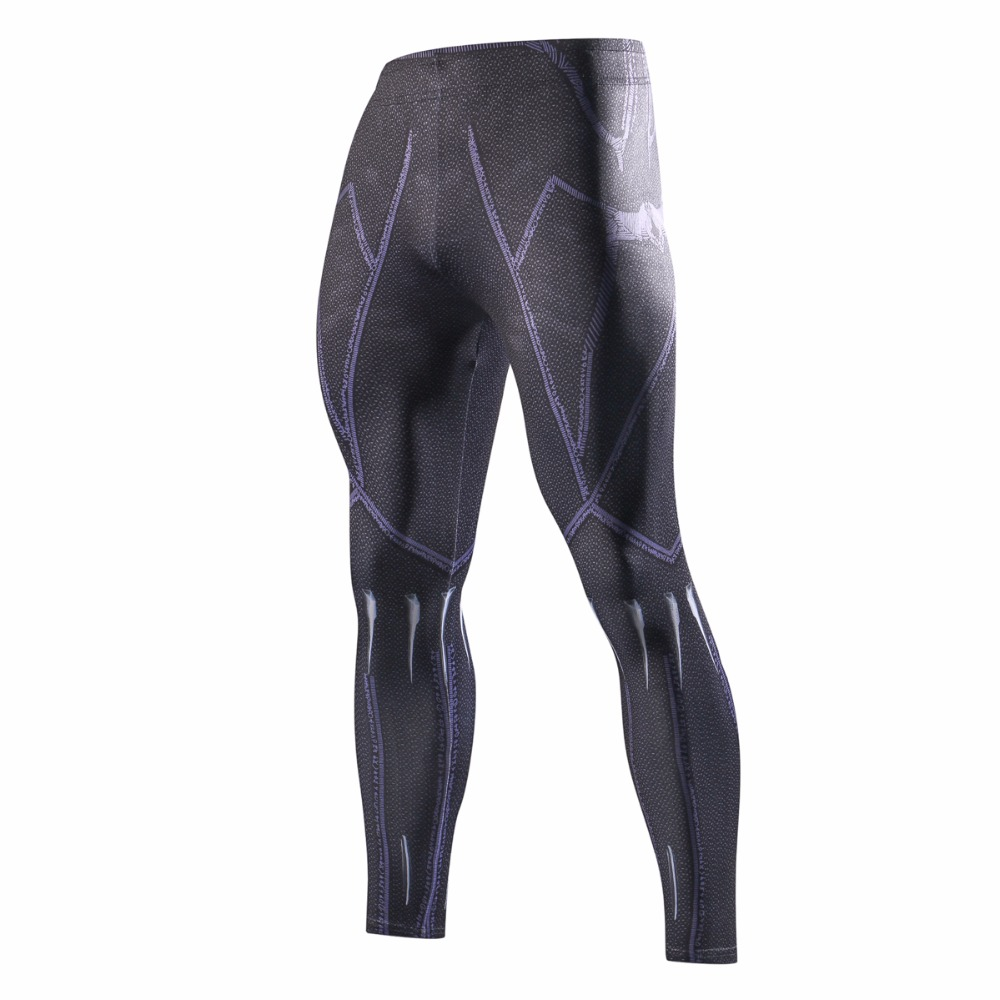 2018 Movie Avengers 3 Black Panther Compressed Trousers T'Challa Cosplay Pants Superhero Polyester Fitness Pants