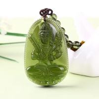1 Natural Czech Moldavite green aerolites Carved Buddha Lucky Amulet Pendant crystal energy apotropaic free rope Unique Necklace
