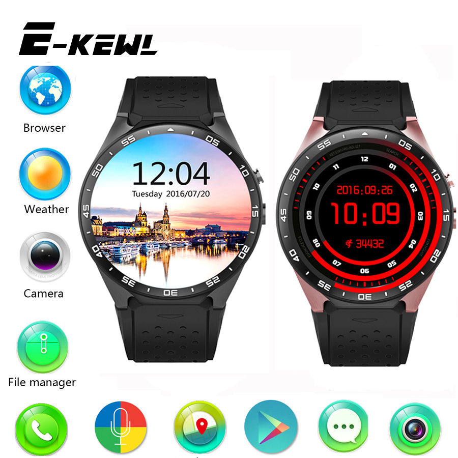 Kingwear kw88 smart watch android 5.1 os 1.39 pulgadas amoled pantalla 3g wifi t