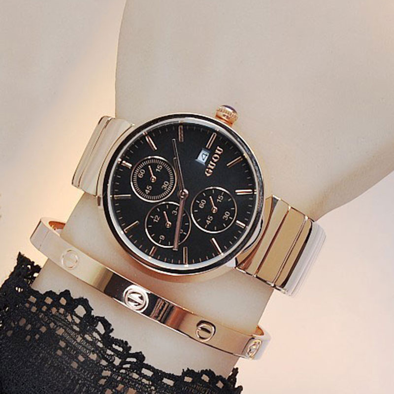 Luxury Brand Man Gold Dress Watches Stainless Steel Unique Woman Men Business Quartz Wristwatch Waterproof Lover's Clock