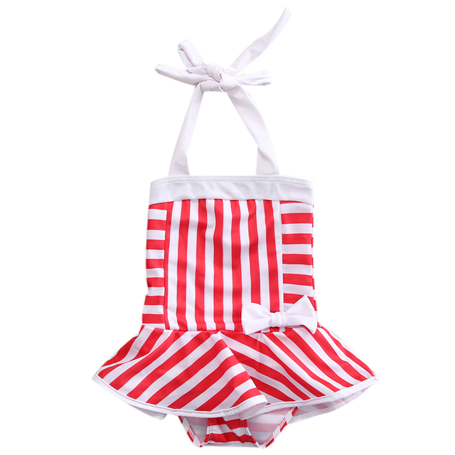 42202b445e9736 Baby Meisjes Badpak Gestreepte Hot Koop Meisje Kids Badpak Badmode Bikini  Tankini Badpak Zwemmen Kostuum
