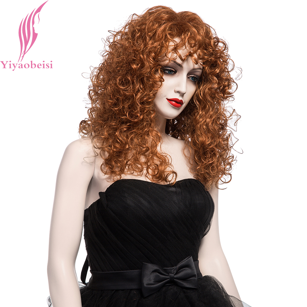Yiyaobess 20 Pouces Puffy Long Perruques Boucles Pour Les -6845