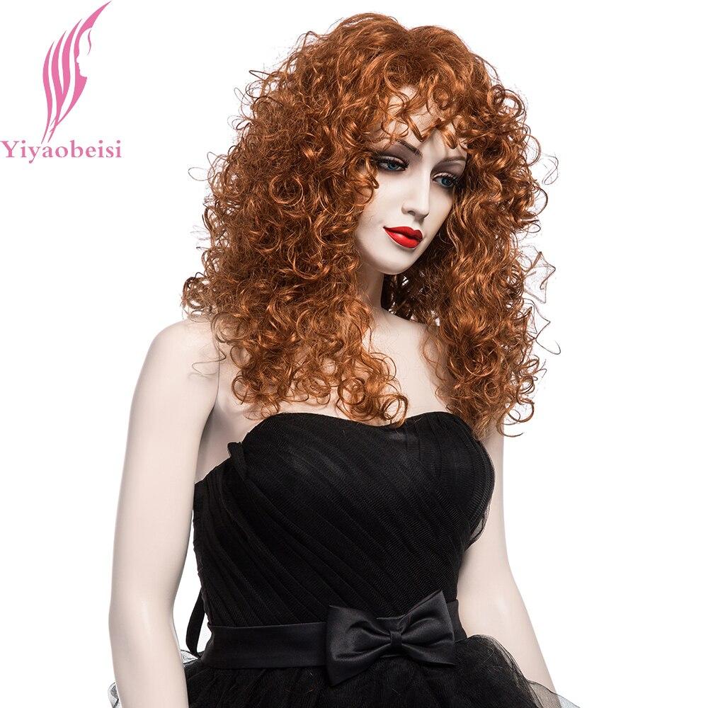 Yiyaobess 20inch Puffy Long Curly Parykar För Kvinnor Syntetisk - Syntetiskt hår - Foto 2
