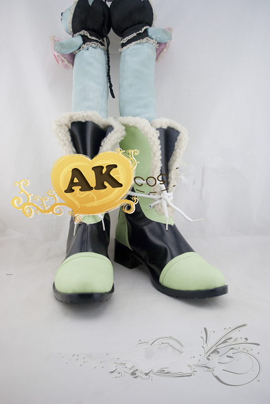 Anime DMMD Dramatical murder dmmd noiz  dark black green  cosplay shoes Boots cosplay