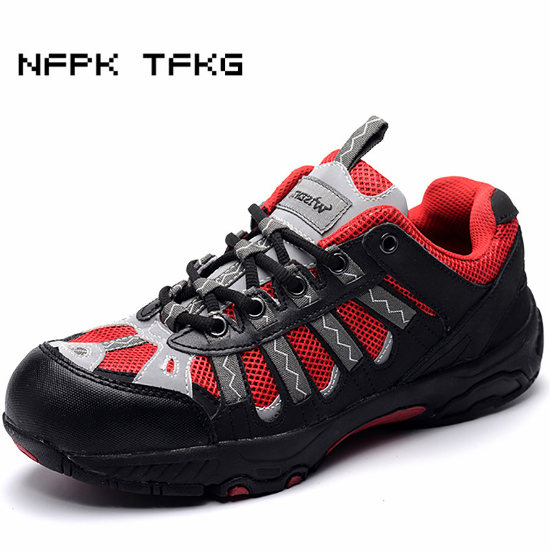 plus size 45 46 mens breathable steel toe caps work safety summer tooling shoes non-slip wearable comfort anti-puncture boots цены онлайн