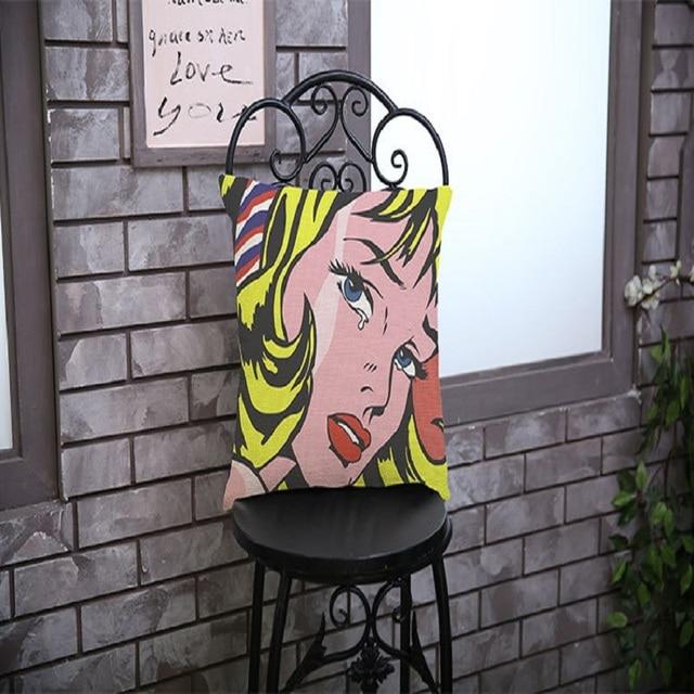 Chaplin Pop Art Chambre Bureau Chaise Housse De Coussin Dcor La Maison Pas Cher Nordique