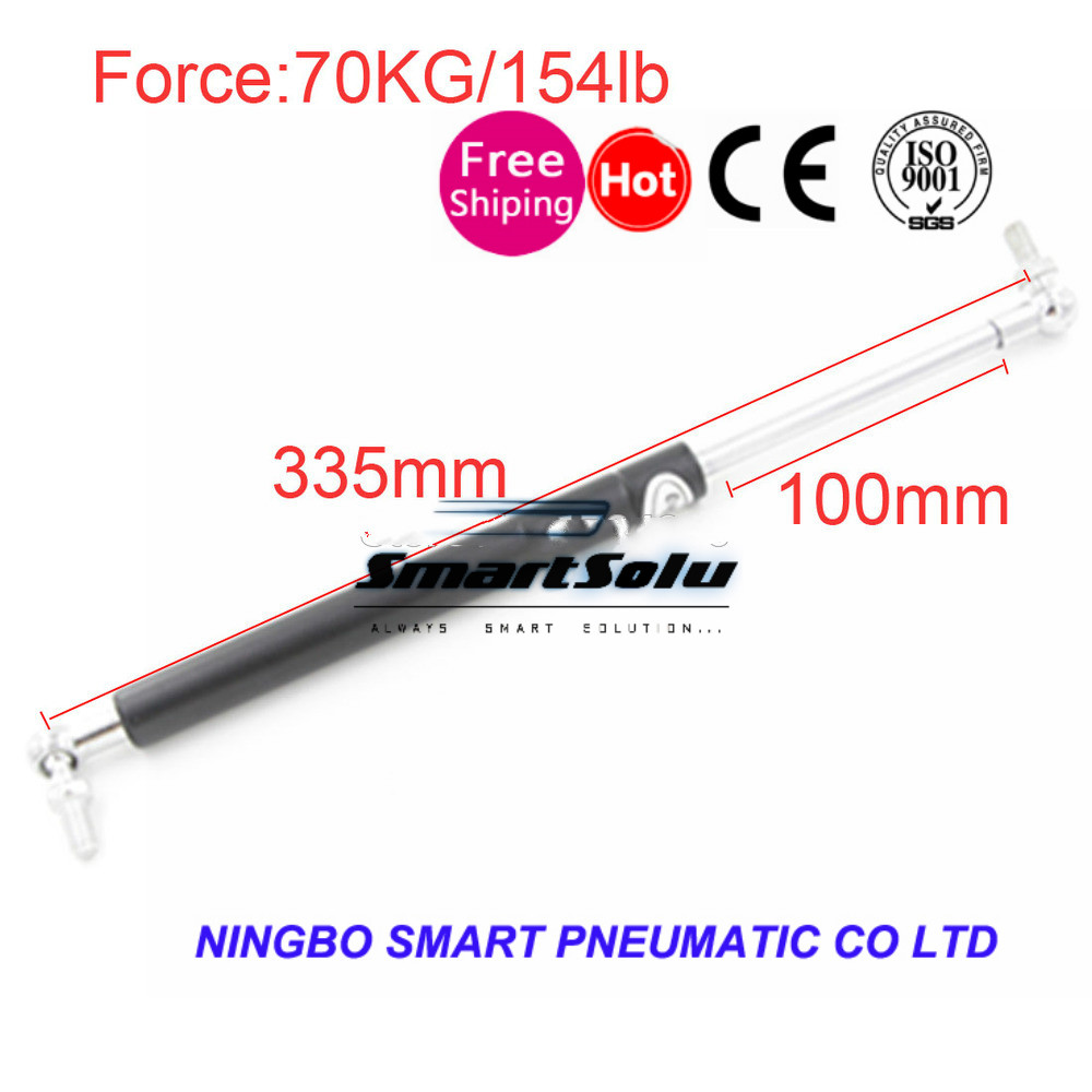 free shipping 100mm Stroke 70KG/154lb Force Auto Gas Spring Strut Damper Ball Gas Strut Shock Spring Lift Prop Automotive free shipping car auto 50kg 110 lbs force ball studs lift strut metal gas spring 500mm 200mm