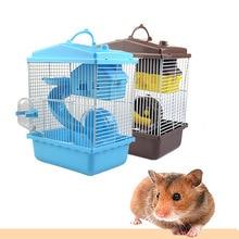 Клетка для домашних животных хомяк клетка хомяк дом двухслойный дом для хомяк, домашнее животное 1 шт Горячая