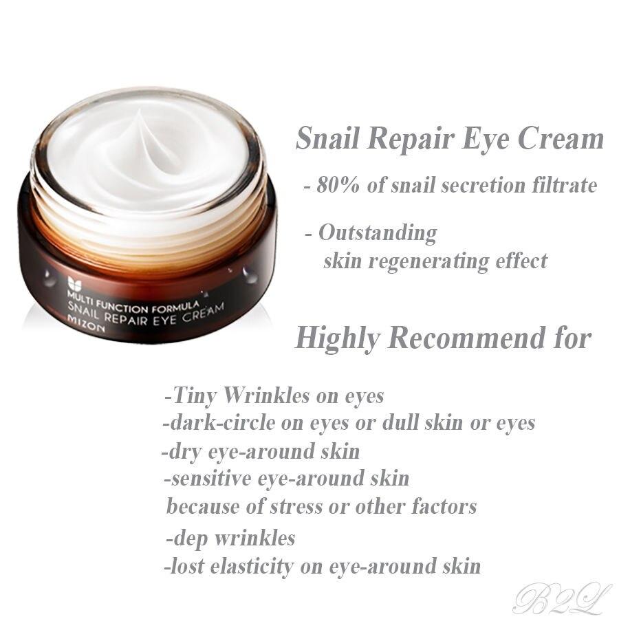 MIZON Snail Repair Eye Cream 25ml Snail Essence serum Eye Cream Anti  Wrinkle Moisturizing Best Korea Cosmetics-in Creams from Beauty & Health on