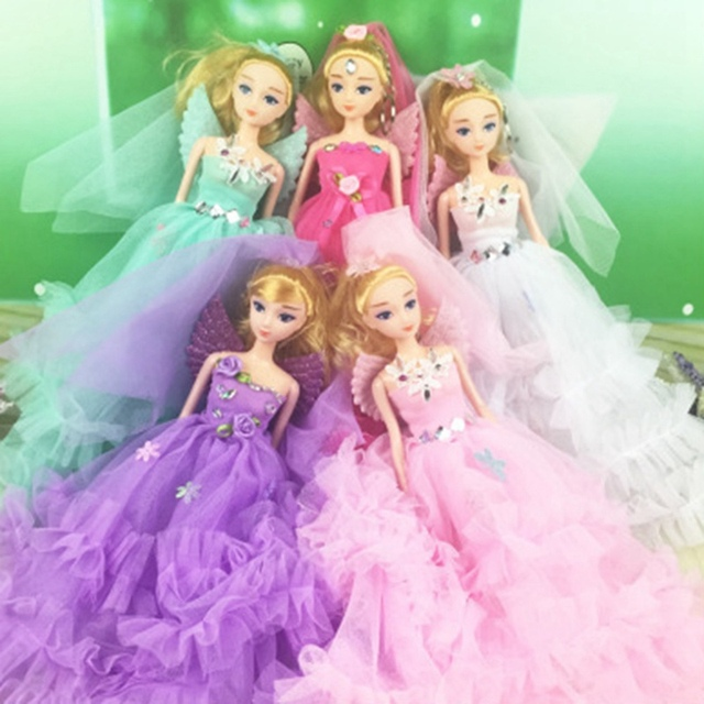 Wedding Dress Party Gown Princess Cute Doll Princess Doll New Girls' Gift