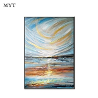 Handmade Abstract Newest Foil Oil Painting Canvas Art Free Shipping Living Room Decoration Wall Art No Frame Oil Painting Decor
