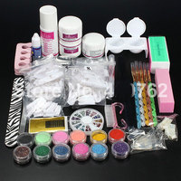 BTT 110 Free Shipping New Pro Acrylic Powder Liquid Glitter Brush Tweezer Primer Nail Art Tips