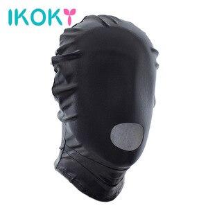 IKOKY-mascarilla para la cabeza de esclavo, juguetes eróticos, Sex Headgear, Sex Shop, Juguetes sexuales para parejas, máscara de boca abierta, juegos para adultos, Bondage SM