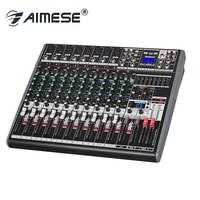 MA 1222F Pro mixer audio console Music dj Studio 12 channels 8 mono 2 stereo 7 brand EQ 16 effect USB MP3 DC 48V phantom power