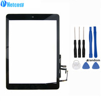 For Ipad Air Touch Screen Digitizer Panel Assembly Home Button Replecement Parts For Ipad 5 Tablet