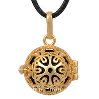 H190 Vintage Design Locket For 18mm Mexican Bola Gold Locket Pendant Angel Caller Necklace For Pregnant