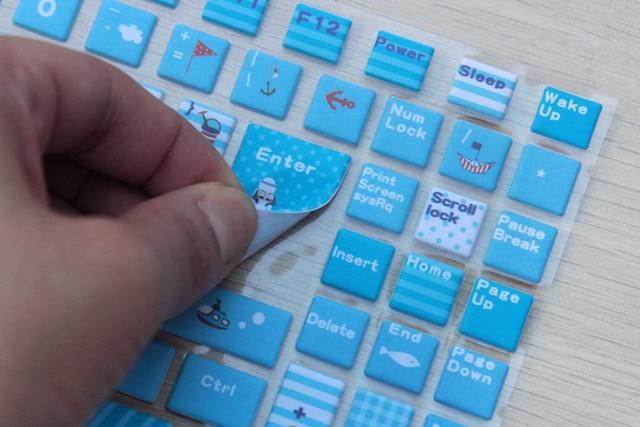 Hot Sale Waterproof Laptop Keyboard Stickers Dustproof Computer Keyboard  Covers General Keyboard Protective Film - Free