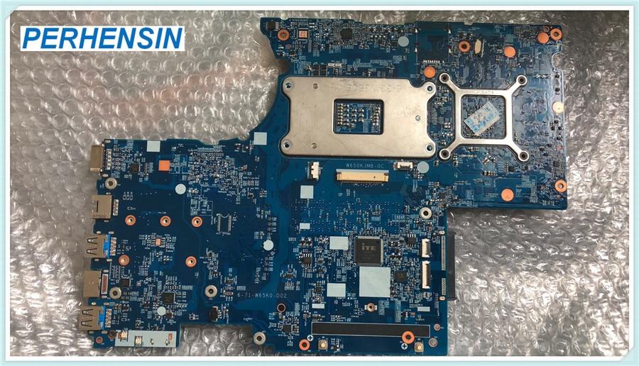For CLEVO k670d K660D CW65S04 W650D K650D DC-KG81S1M Laptop MOTHERBOARD  6-71-W65K0-D02 GTX1050 100% WORK PERFECTLYFor CLEVO k670d K660D CW65S04 W650D K650D DC-KG81S1M Laptop MOTHERBOARD  6-71-W65K0-D02 GTX1050 100% WORK PERFECTLY