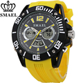 SMAEL Big Dial Sport Watches Men Waterproof Fashion Casual Watch LED Digital Quartz Man Wristwatch Gift Clocks Relogio Masculino