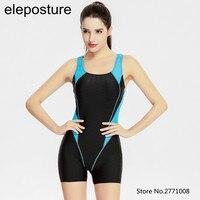 2017 Professional Swimsuit Women One Piece Swimwear Sports Bodybuilding Swim Wear Training Swimsuit Sharkskin Print Bathing