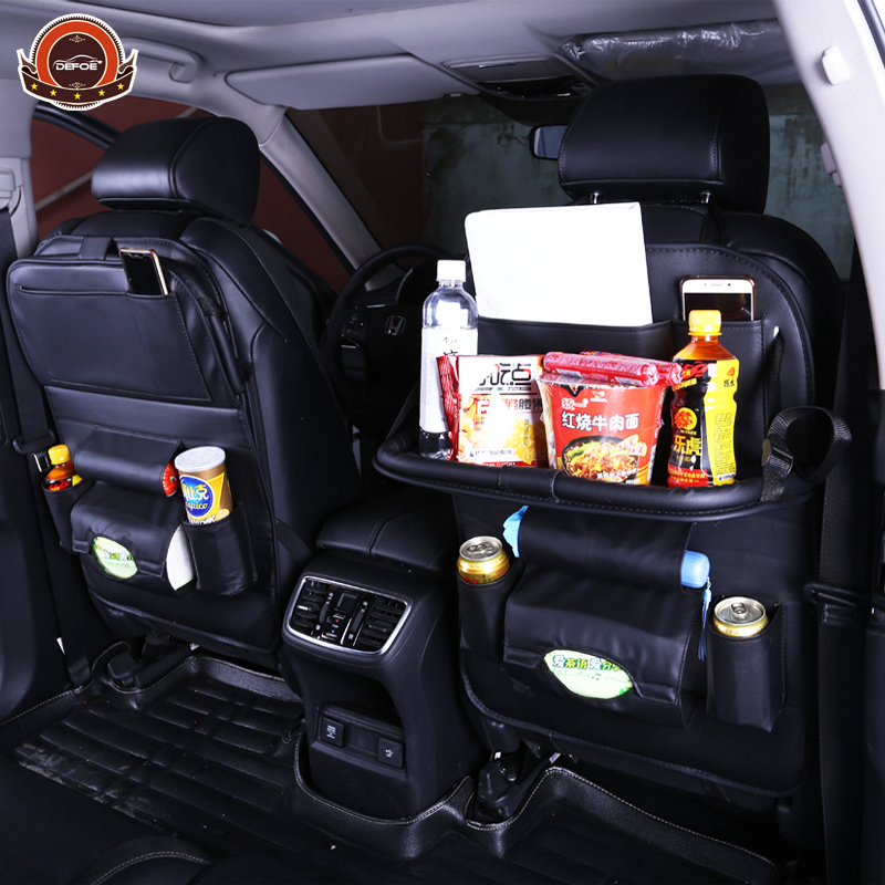 New Car fold Dining rack seat storage bag Hanging bags car seat back bag Car Multifunction vehicle storage box freeshipping все цены