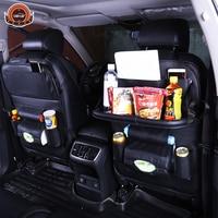 New Car fold Dining rack seat storage bag Hanging bags car seat back bag Car Multifunction vehicle storage box freeshipping