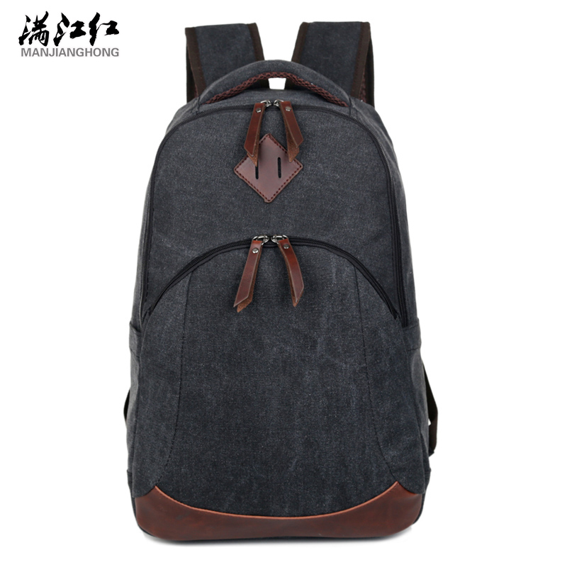 New Super Quality Canvas Backpack Men Mochila Masculina Korean Vintage Male Backpacks Preppy Style Backpacks For Teenagers 1335
