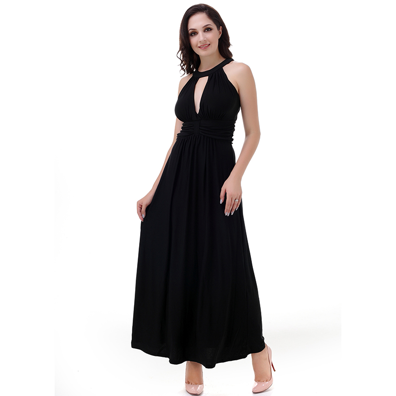 2018 Women Summer Dress Sleeveless Sexy Open Back Halter Dress Plus Size 6XL Elegant Women Club Party Dress Vestido Largo