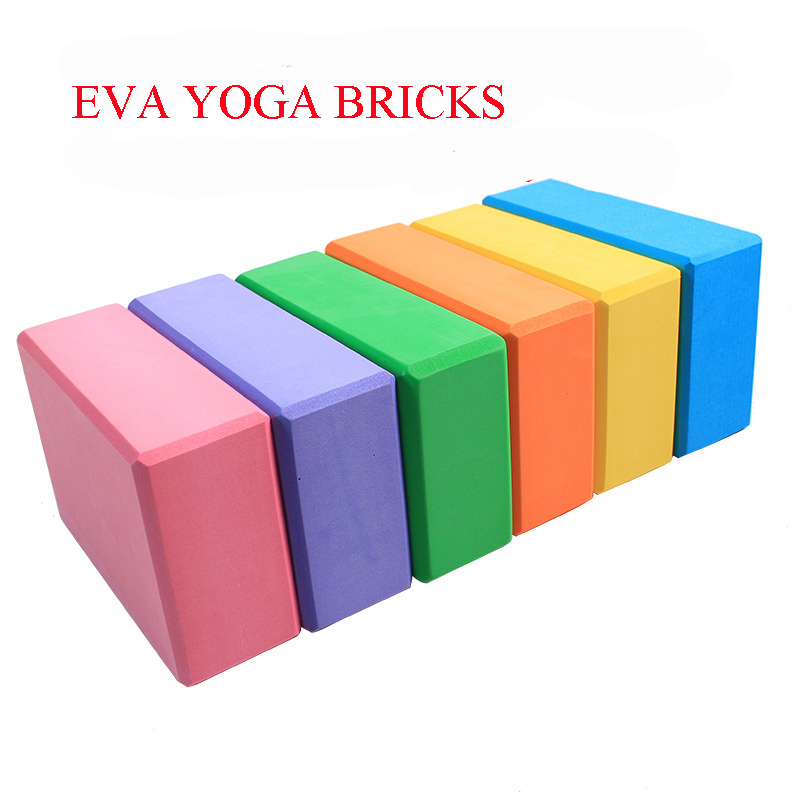 2pcs Yoga Block Brick Foaming Foam Home Exercise Practice Gym Sport Tool Pink
