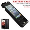2200 mah y 2500 mah y 4200 mah portátil banco de la energía del cargador de batería de reserva externa paquete de casos de la cubierta de carga para iphone 5 5s se