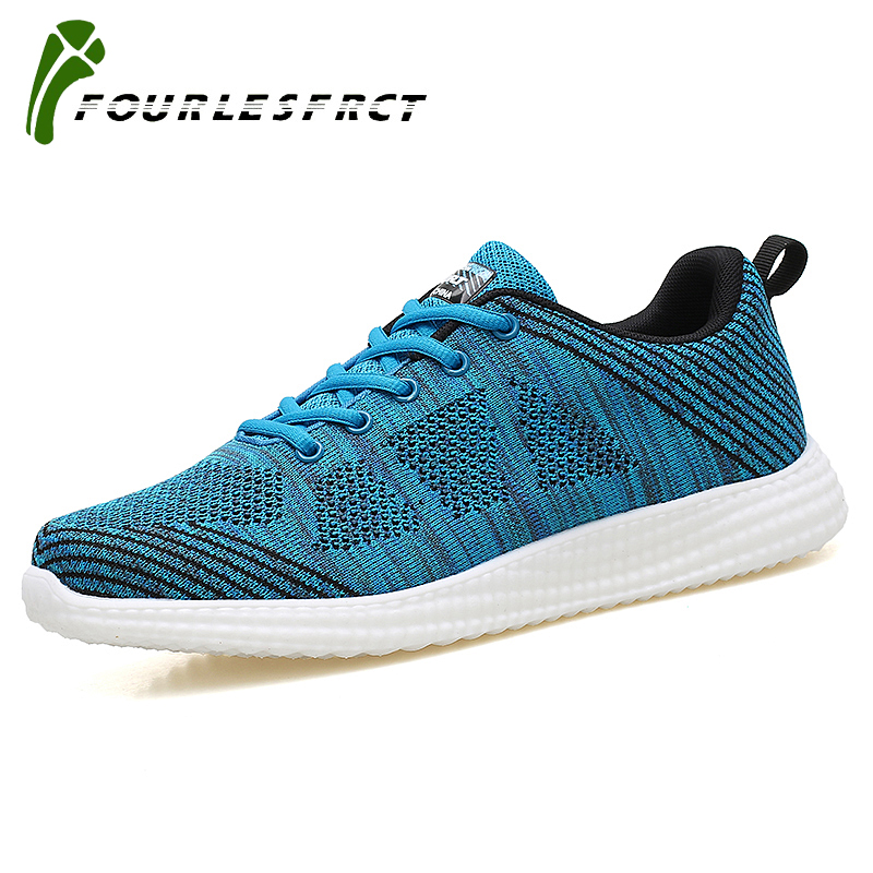 2017 Spring Summer New Arrival Casual Shoes Men Lace-up Krasovki Fly Weave Breathable Lazy Shoes Trainers Black Blue Red L675 2017 new summer breathable men casual shoes autumn fashion men trainers shoes men s lace up zapatillas deportivas 36 45